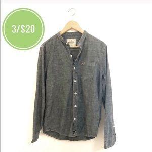 3/$20 Hollister Chambray Button Up Shirt